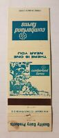 Advertising matchbook cover, Cumberland Farms, Quality Dairy Products