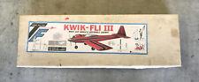 """Vintage Top Flite KWIK-FLI III, RC Balsa Model Airplane Kit, 60"""""""