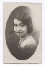 PHOTO ANCIENNE  Épreuve sans retouche Inscription Tampon Vers 1930 Vintage Femme