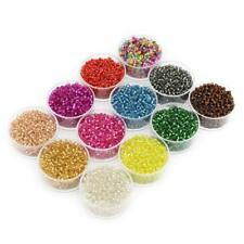7200 BULK Beads Glass Seed Beads Assorted Colors Lot 2mm Small Spacers