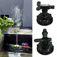 """IBC To 3/4"""" (20mm) Water Tank Hose Yard Adapter Fittings With-Switch R0M9"""