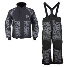 Boys Youth Mossi Snowmobile Jacket & Bibs Combo - Black w/ Mosaic Design