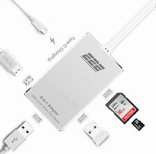 "E2E Silver USB 3.1 Type-C to HDMI USB 3.0 SD Card Hub for Macbook Pro 13"" A1708"