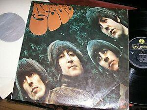 THE BEATLES  -       Rubber Soul,         ORIGINAL 1965 UK MONO LP / inner