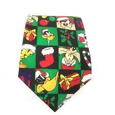 Vintage 1998 Looney Tunes Christmass Tie With All The Characters