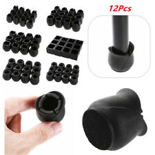 12x Rubber Furniture Foot Table Chair Leg End Caps Covers Tips Floor Protector