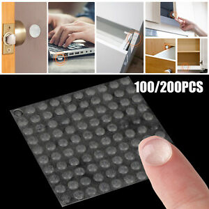 100Pcs Self Adhesive Hemispherical Bumpers Clear Silicone Rubber for Furniture