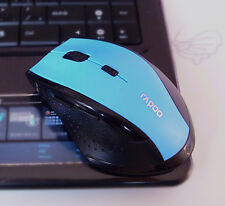 2.4GHz Wireless Rapoo7300 Ergonomic Usb Optical Cordless Mouse Blue Light Sensor