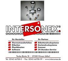 Thermotransferfolie 155 mm x 450 m Wachs inner Etikettendrucker Farbband Barcode
