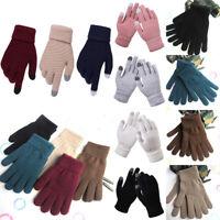 Winter Touch Screen Gloves Unisex Warm Crochet Knitted Mittens Thicken Gloves
