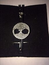 "TREE OF LIFE DR33  Scarf , Brooch and Kilt Pin Pewter 3""  7.5 cm"