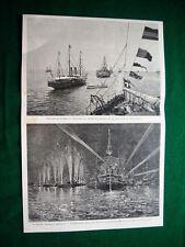 Squadra italiana in Inghilterra, 1895 - illuminazione navi italiane e inglesi