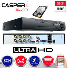 5MP CCTV 8CH DVR 1920P Ultra HD 4in1 Video Recorder Surveillance System P2P HDMI