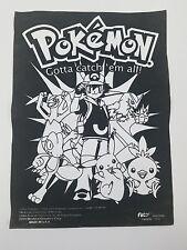 Pokemon Gotta Catch 'em All Nintendo Fuzzy Posters Vintage Original 2004 Usa