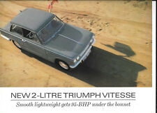 TRIUMPH VITESSE 2 LITRE SALOON AND CONVERTIBLE SALES BROCHURE 1966 1967