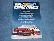 1983 Chevy Camaro Z/28 Color Ad USA-1 Taking Charge