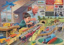 Hornby Railway Tri-ang Model Making Boys Mens Train Set Blank Birthday Card