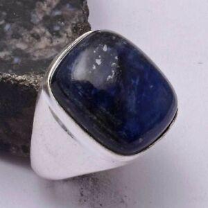 Sodalite Ethnic Handmade Men's Ring Jewelry US Size-10 AR 42088