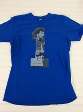 Tennis T Shirt Djokovic Novak US Open Short Sleeve Mens L Blue