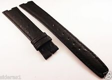 AUTHENTIC OMEGA GENUINE OSTRITCH WATCH BAND CENTER CUT 18MM BLACK