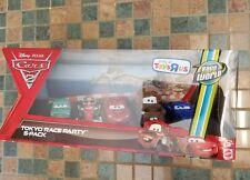 Disney Pixar Cars 2: TOKYO RACE PARTY 4-Pack (NIB) INTL' Box *Toys R' Us*