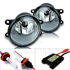 Fit 16 Scion iM 17-18 Toyota iM Replacement Fog Light Lamps w/Hid Kit - Clear