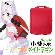 Anime Miss Kobayashi's Dragon Maid Kamui Kanna Cosplay Red Backpack School Bag