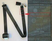 VW GOLF MK5 Cinturón De Seguridad trasero Medio Pulido Y Hebilla Negro 1k6 857