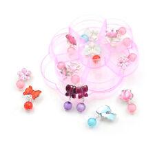7Pairs/Box Lovely Earrings Clip-On No Pierced Pendant Design For Children Kid Mc