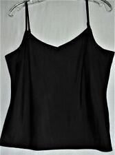 Women's BLACK Adjustable CAMI Spaghetti Strap TOP for Layering - Size M