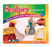 Sculpey Polymer Modeling Compound Clay, 1.75 lb, White