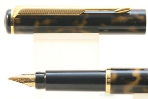 Vintage (1996) Parker Rialto Lacquered Dust Medium Fountain Pen, GT