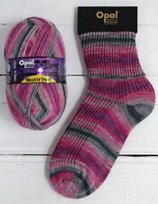 Opal Sunrise 4 Ply Sock Knitting Yarn 100g Choice of Shade 75 Wool 9441 Dawn