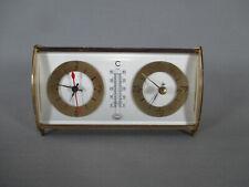 Air France pendule en laiton thermomètre baromètre