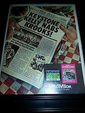 Activision Keystone Kapers Rare Original Promo Poster Ad Framed!