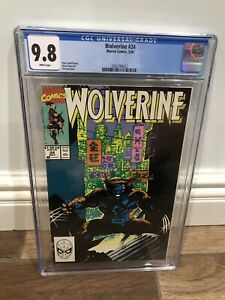 Wolverine #24 CGC 9.8 1990 White Pages Jim Lee Cover