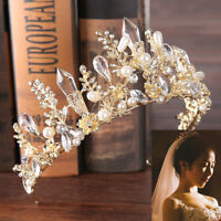 Wedding Baroque Bride Tiara Headdress Hair Crown Rhinestone Crystal Headband