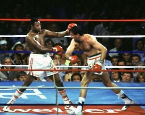 GERRY COONEY vs LARRY HOLMES 8X10 PHOTO BOXING PICTURE COLOR