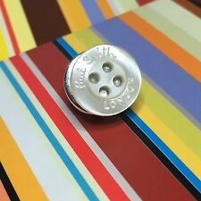 MENS PAUL SMITH LONDON PEARLY OFF WHITE SHIRT BUTTONS METAL TIE LAPEL PIN TACK