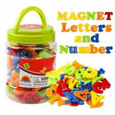 Alphabet Magnets Letters and Numbers Toy Abc 123 Plastic Toy Set Educational