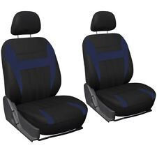 SUV Van Truck Seat Cover Blue Black 6pc Set Bucket w/Detachable Head Rest Mesh