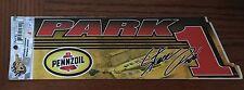 Winners Circle NASCAR Steve Park Pennzoil Bumper Sticker