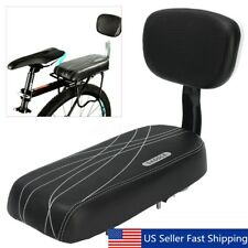 Black Bicycle Gel Bike Saddle Seat Pad Cushion Cover Back Rack Rest 13'' Wide