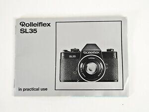 +Vintage Original Rolleiflex SL35 Instruction Manual and DOF Guide - Set of 2
