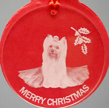 Yorkshire Terrier #1 Dog Ornament, Lucite,