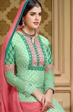 Designer Pure Brasso Salwar Kameez Green Color Good Quality Party Wear Suit