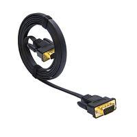 DTECH VGA Male to Male Cable 6 ft SVGA Monitor Cord 15 Pin Gold Plug PC Computer