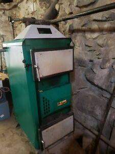 Orlan wood furnace boiler gasifier eko 40 piping, draft inducer, mixing vale