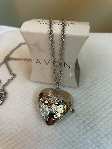 Avon 2013 Heart Locket Necklace Watch