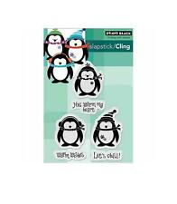 Penny Black Winter Cling Stamp Set LET'S CHILL Penguins, Warm Wishes, Sentiments